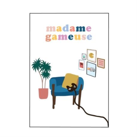 Carte double (+ env) Madame gameuse