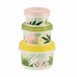 Boite de conservation GINA (set de 3) Fresh leaves