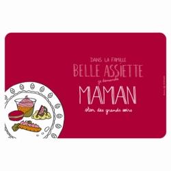 Set de table EMATCH Belle assiette Maman