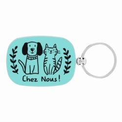 Porte-clés OPAT Chez nous chien chat