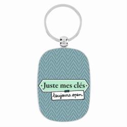 Porte-clés OPAT Juste mec chevrons bleu