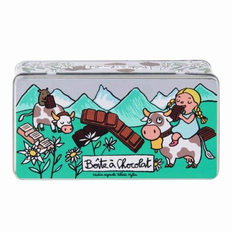 Boite à Chocolat Tablettes Alpes