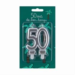 Bougie d'anniversaire 50 ans - De bon temps