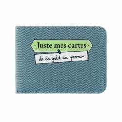 Porte-cartes DOUBLE Juste mec