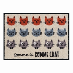 Tapis de patio LEMIYO Comme ci comme chat