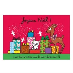 Carte double (+ env) Joyeux noël cadeaux