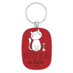 Porte-clés OPAT La vie de chat'ô !