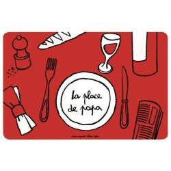 Set de table Place de papa - rouge