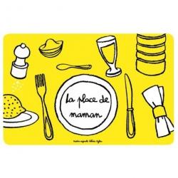 Set de table Place de maman - jaune