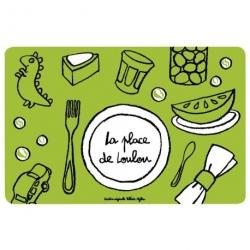 Set de table Place de loulou - vert