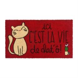 Paillasson COCO/PVC La vie de chat'ô!