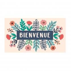 Paillasson COCO/PVC Bienvenue Fleurs