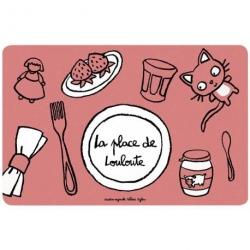 Set de table Place de louloute - rose