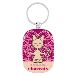 Porte-cles OPAT Chat yoga