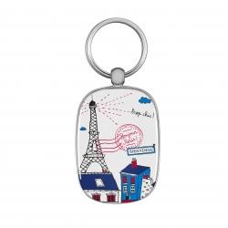 Porte-clés OPAT Bonjour Paris - multicolore