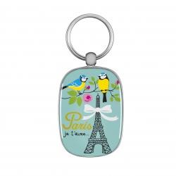 Porte-clés OPAT Paris je t'aime - bleu