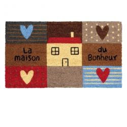 Paillasson COCO/PVC Maison cœur - multicolore
