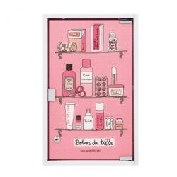 Armoire à pharmacie GM (avec clés) Bobos de fille - rose