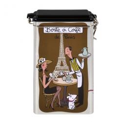 Boite à Café (hermétique) De Paris - marron